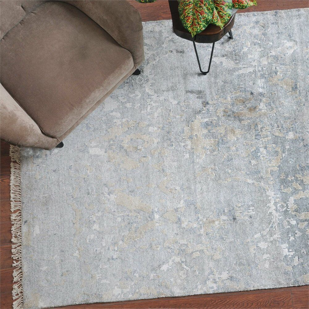 Uttermost Bhutan 8 X 10 Rug in Gray, 8 in. W x 0.375 in. D x 10 in. H Product Image