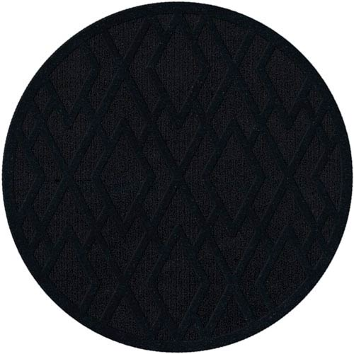 Dover DV1 Black Round: 4 Ft. Area Rug Product Image