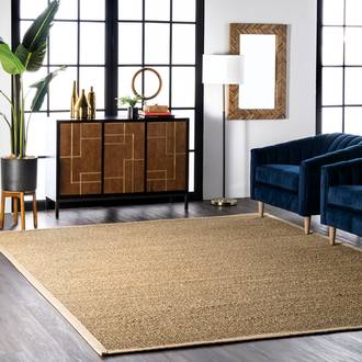 Beige Maui Seagrass with Border rug