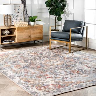 Multi Historia Hand Knotted Worn Wreath rug