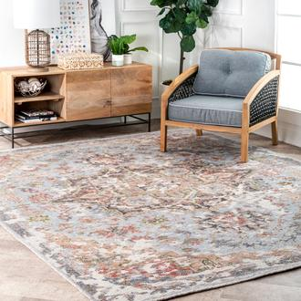 Multi Historia Hand Knotted Rustic Rosette rug