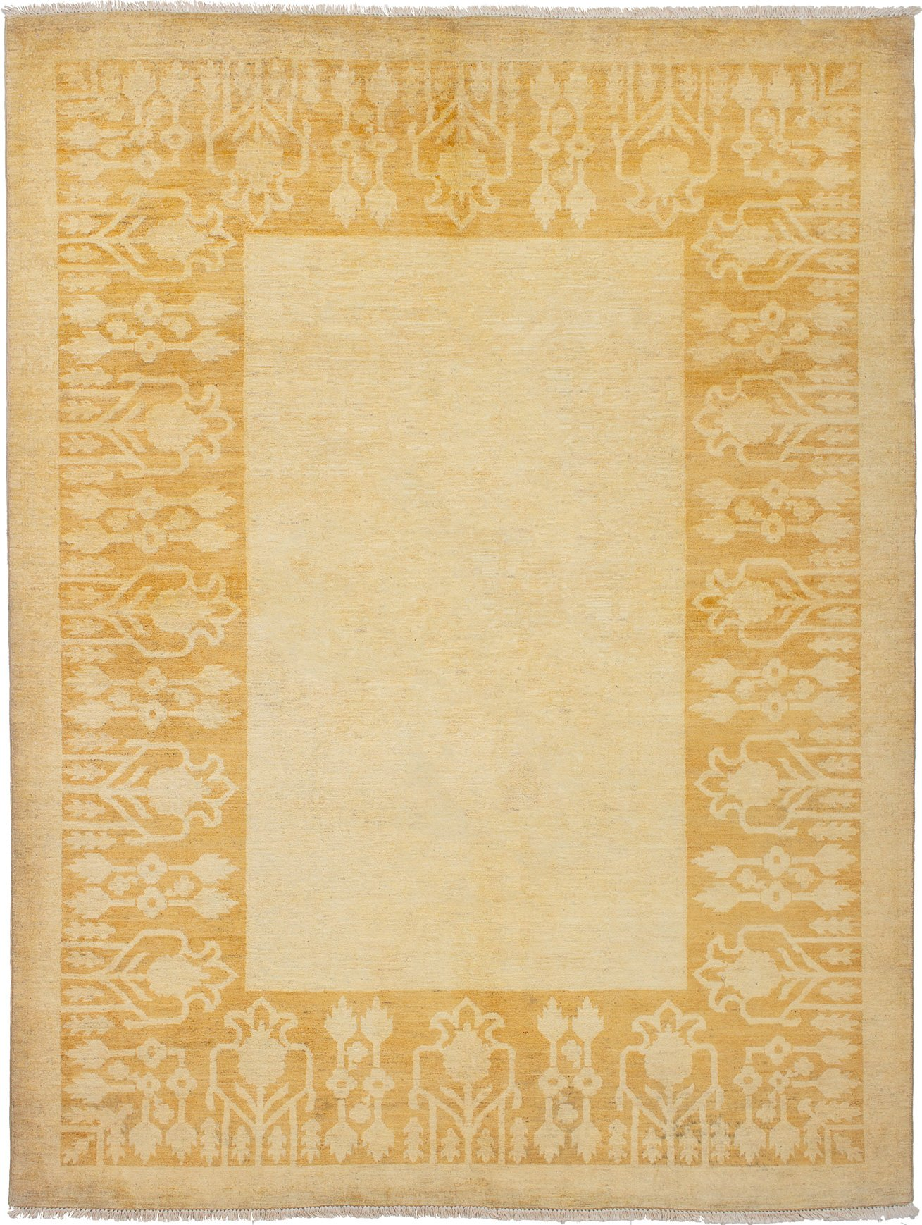 Hand-knotted Finest Ziegler Chobi Beige Wool Rug 6'0in x 8'0in Product Image