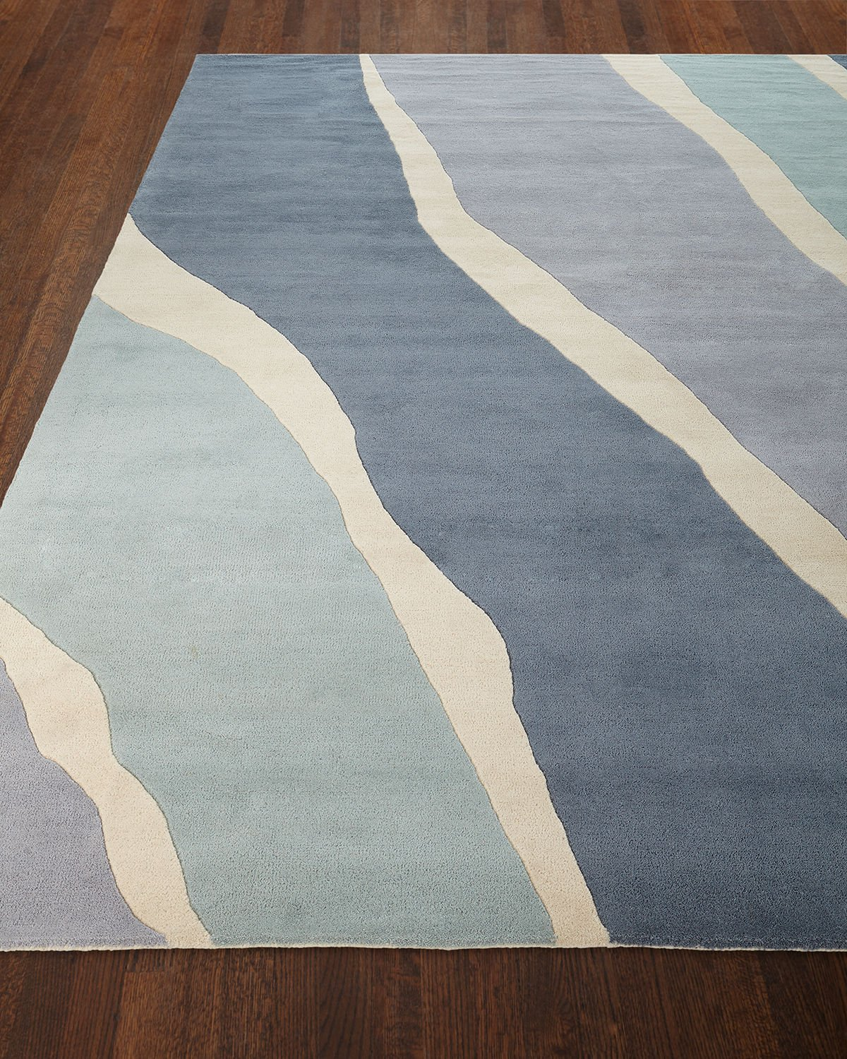 Ocean Waves Hand-Tufted Rug, 9' x 12' Product Image