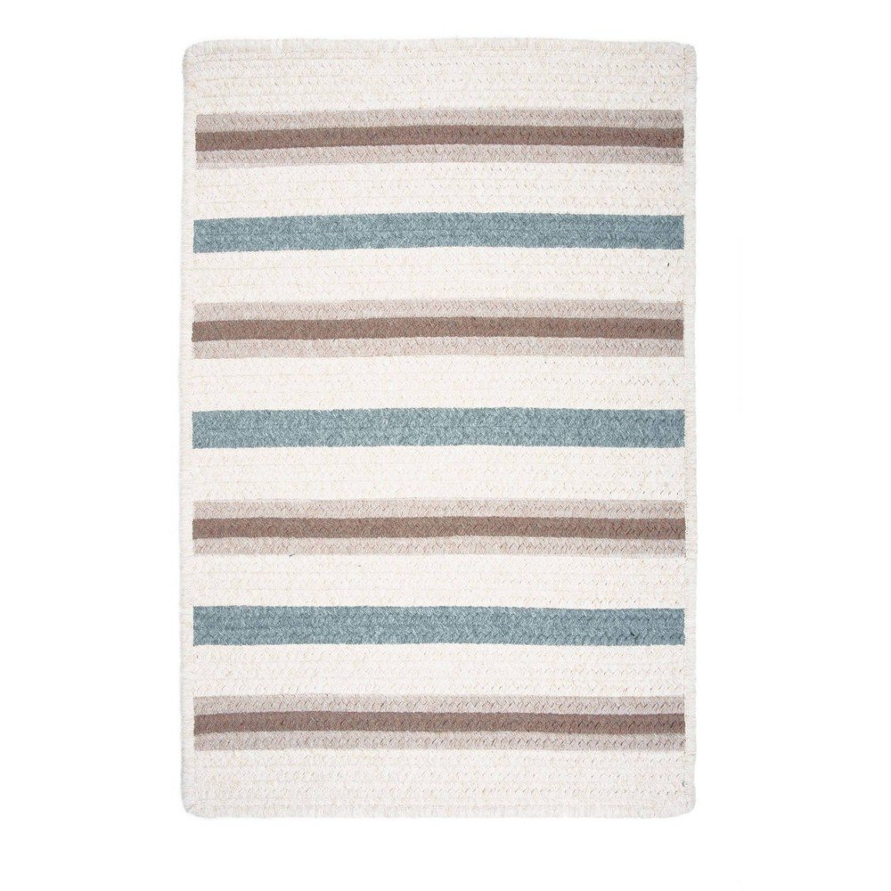 Uptown Stripe Braided Area Rug Gray