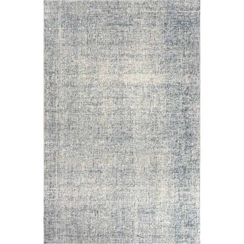 Jaipur Living Britta 4' x 6' Hand Tufted Wool Rug in Ivory and Blue Product Image