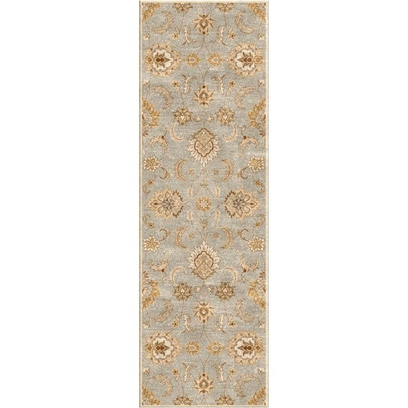 Jaipur Living Mythos 4' x 16' Runner Hand Tufted Wool Rug in Blue Product Image