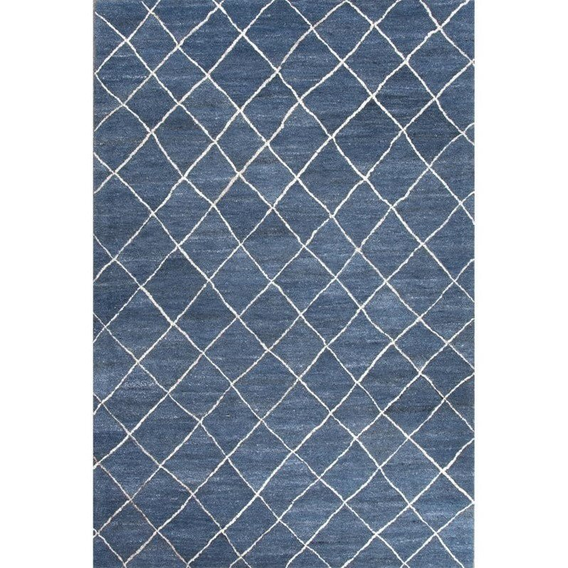 Jaipur Living Riad 4' x 6' Hand Tufted Wool Rug in Blue and Ivory Product Image