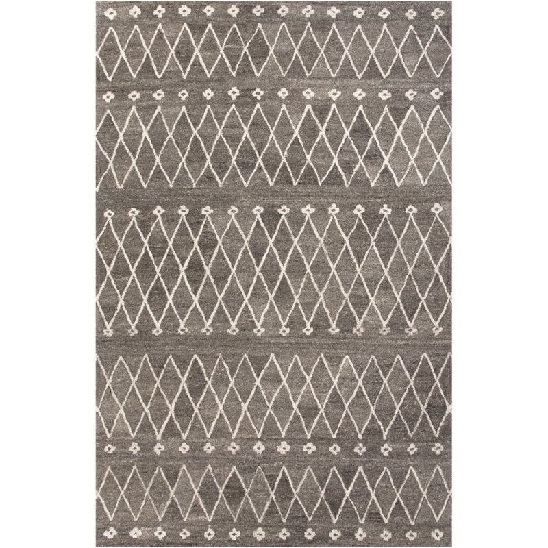 Jaipur Living Riad 4' x 6' Hand Tufted Wool Rug in Gray and Ivory Product Image