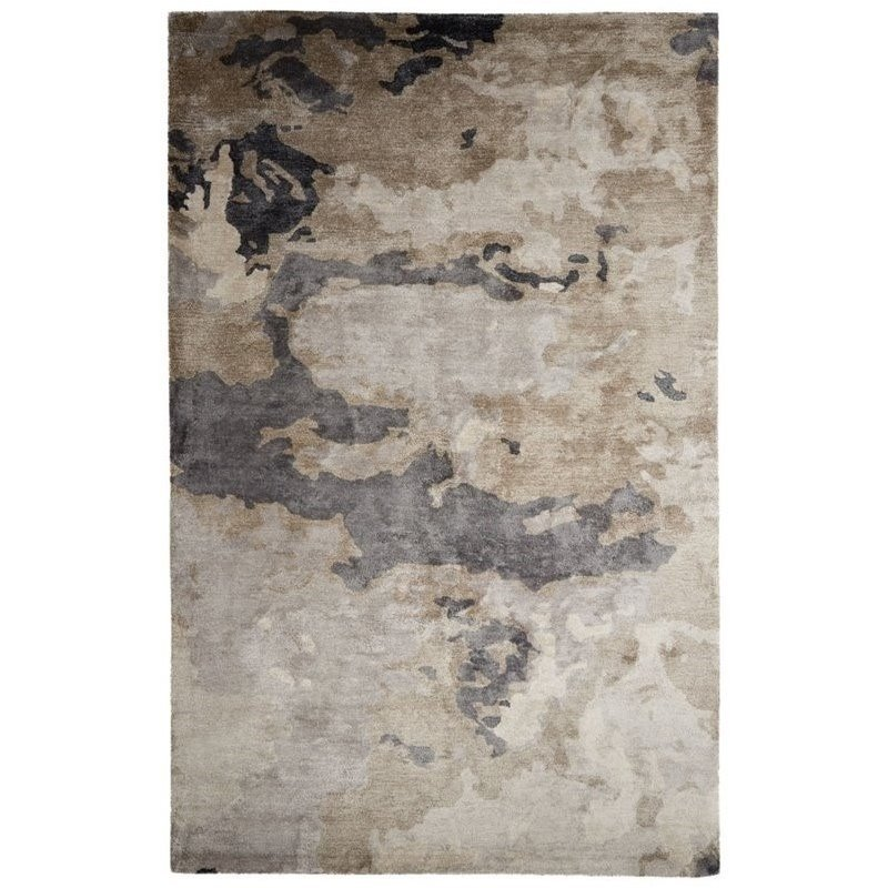 Jaipur Living Transcend 8' x 10' Hand Tufted Art Silk Rug in Taupe Product Image