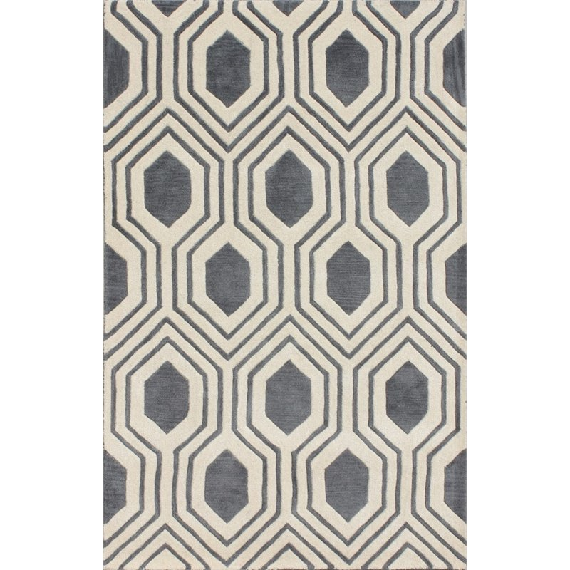 Safavieh Chatham 8' X 10' Hand Tufted Wool Rug in Gray and Ivory Product Image