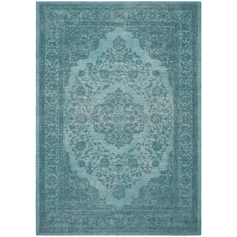 Safavieh Classic Vintage 8' X 10' Power Loomed Cotton Rug in Aqua Product Image