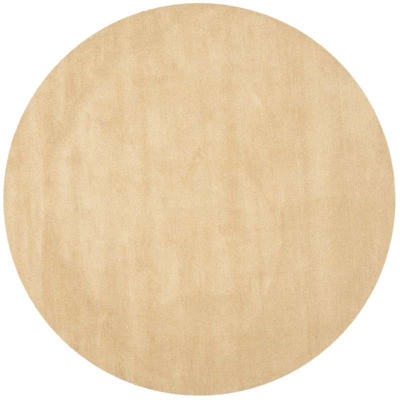 Safavieh Himalaya 10' Round Hand Loomed Wool Pile Rug in Beige Product Image