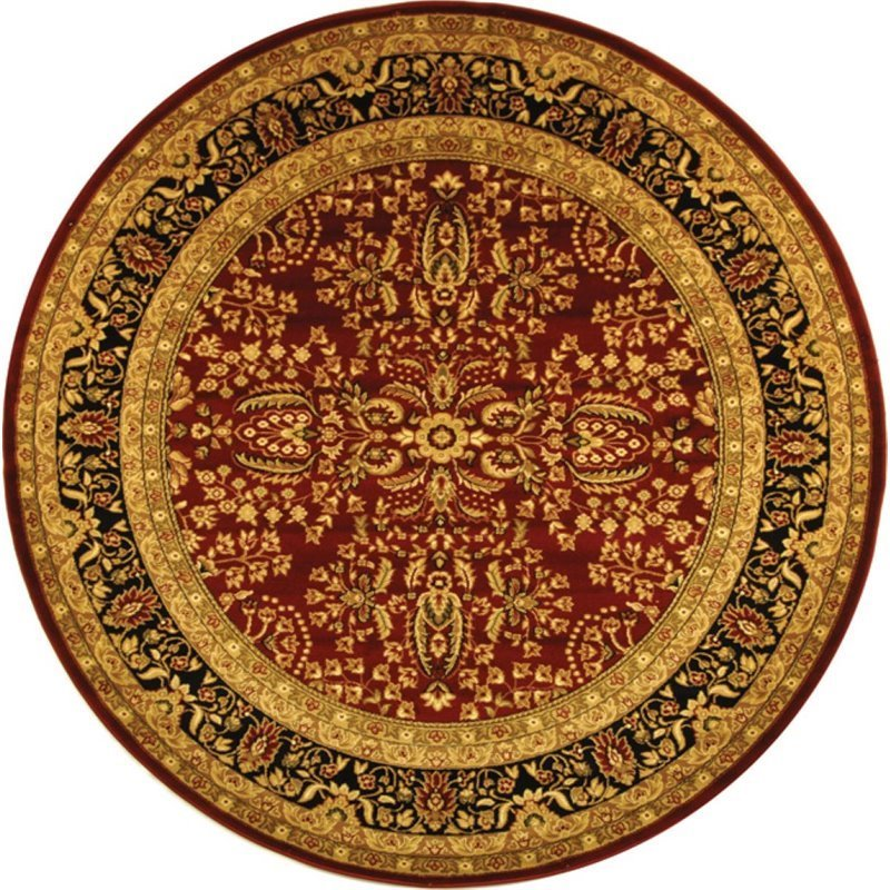 Safavieh Lyndhurst 10' Round Power Loomed Rug in Red and Black Product Image