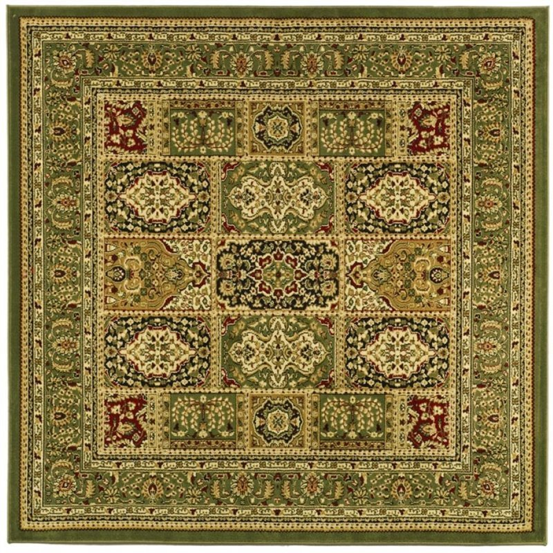 Safavieh Lyndhurst 10' Square Power Loomed Rug in and Green Product Image
