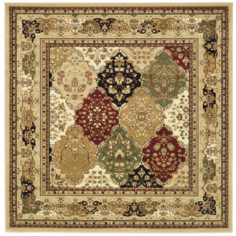 Safavieh Lyndhurst 10' Square Power Loomed Rug in and Black Product Image