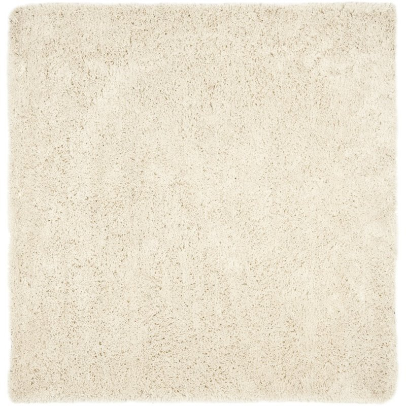 Safavieh Shag 9' Square Hand Tufted Acrylic Rug in White Product Image