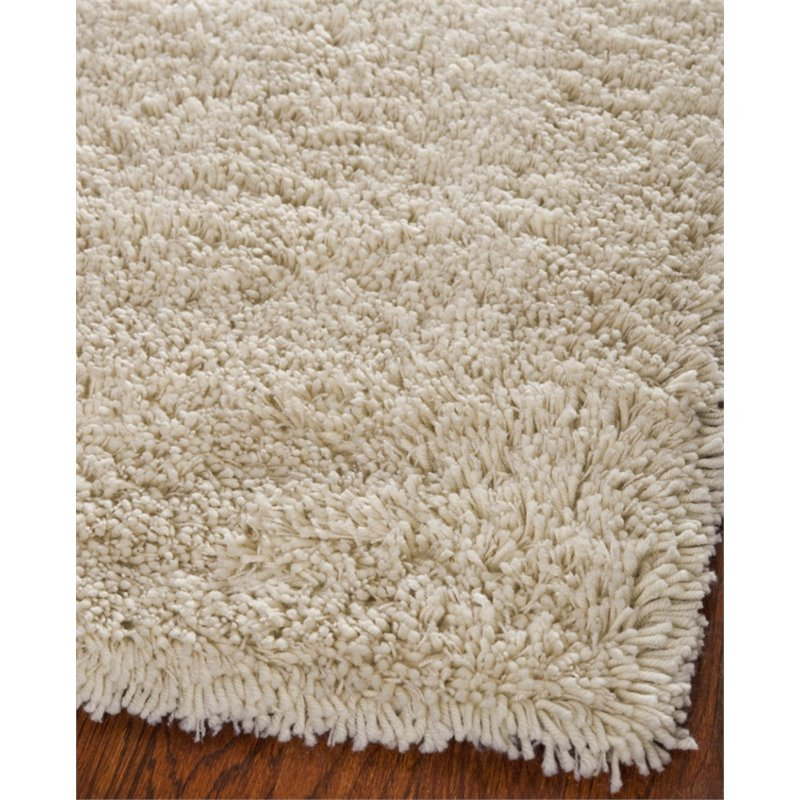 Safavieh Shag 9' Square Hand Tufted Acrylic Rug in Ivory Product Image