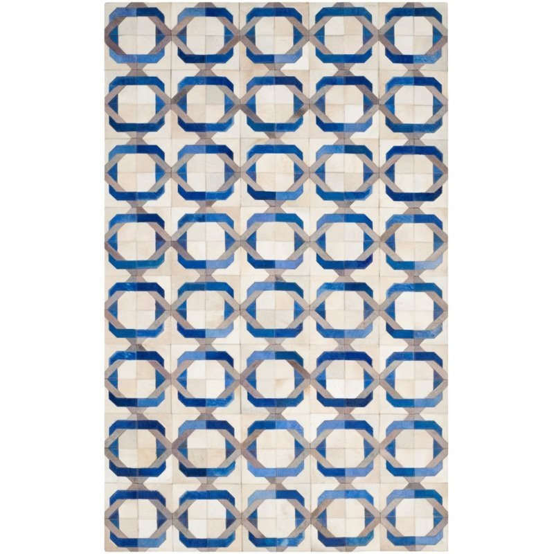 Safavieh Studio Leather 4' X 6' Hand Woven Leather Rug in Ivory Product Image