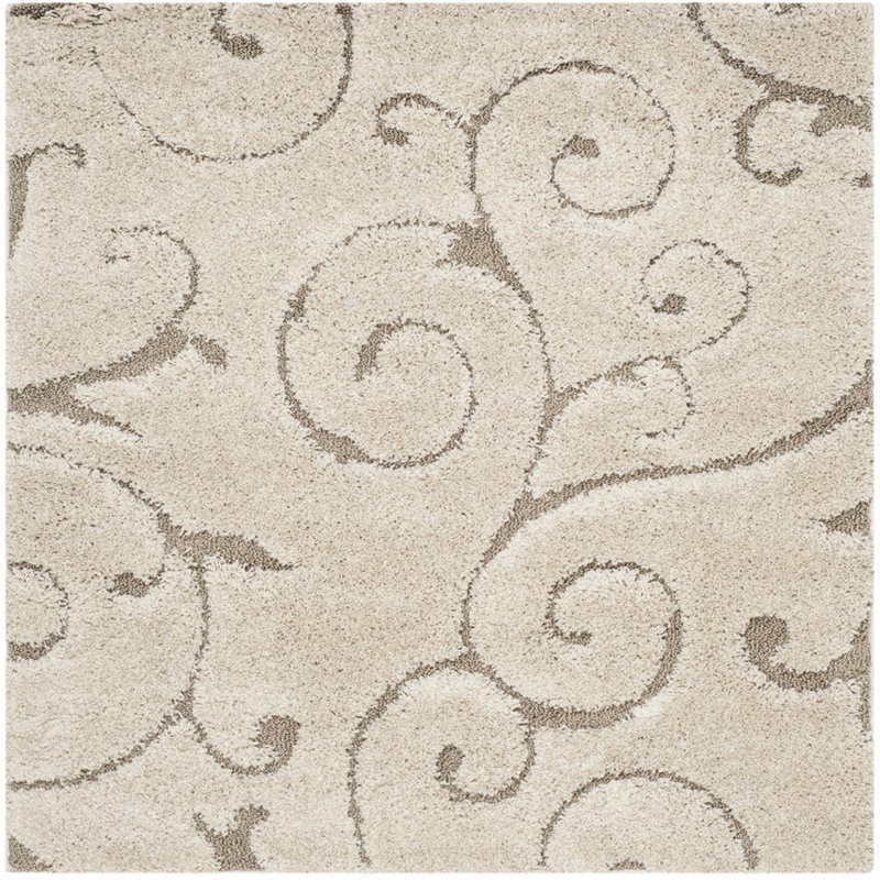 Safavieh Florida Shag 9' X 9' Square Rug in Cream and Beige Product Image