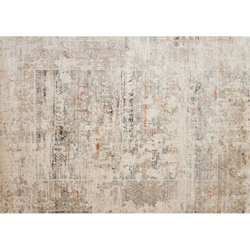 Loloi Javari 5'3 x 7'4 Contemporary Rug in Ivory and Granite Product Image