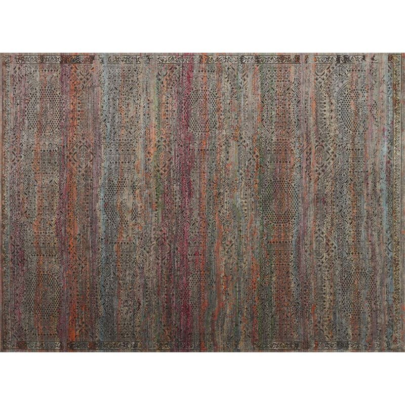 Loloi Javari 12' x 15' Contemporary Rug in Charcoal and Sunset Product Image