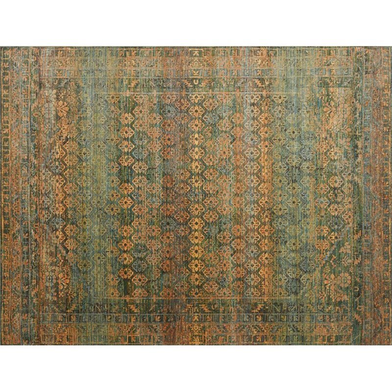 Loloi Javari 6'7 x 9'4 Contemporary Rug in Lagoon and Fiesta Product Image