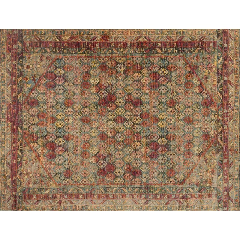 Loloi Javari 7'10 X 10' Contemporary Rug in Slate and Berry Product Image