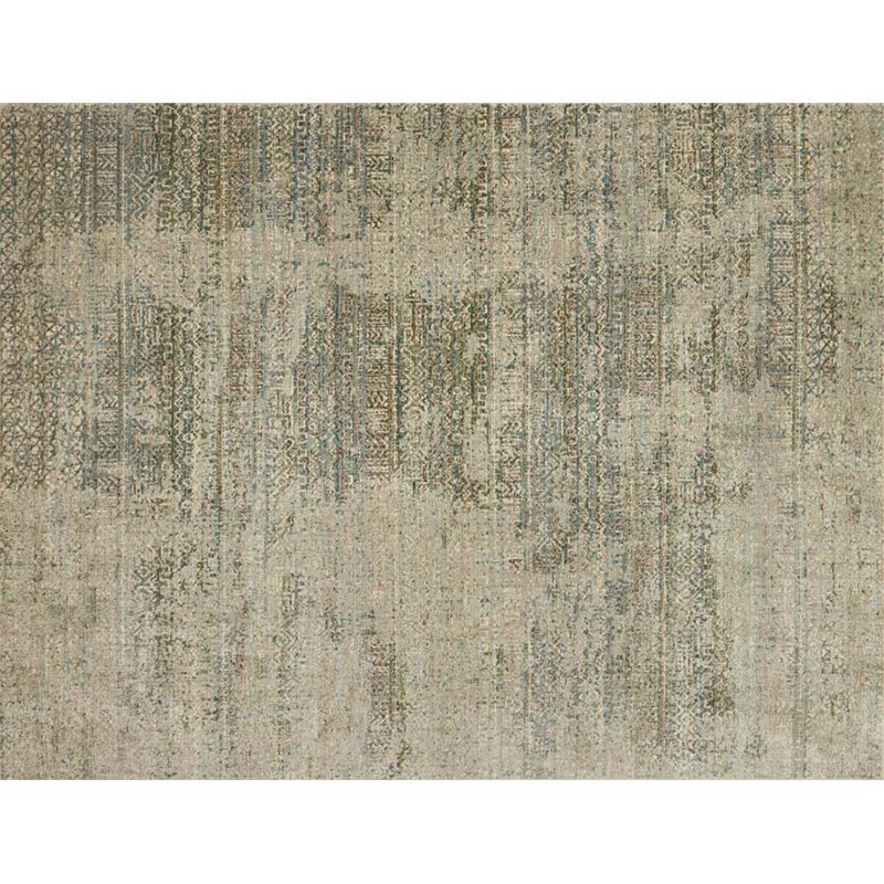 Loloi Javari 5'3 x 7'4 Contemporary Rug in Ivory and Sea Product Image