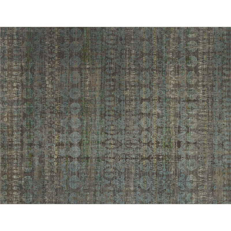 Loloi Javari 7'10 X 10' Contemporary Rug in Steel and Lagoon Product Image