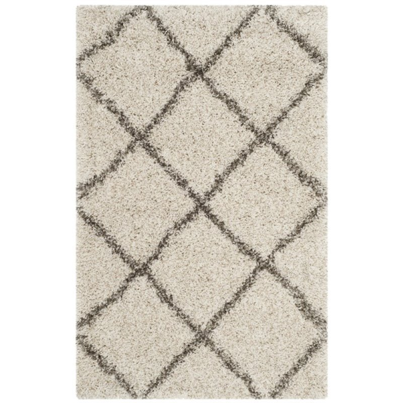 Hawthorne Collection 9' X 9' Square Rug in Ivory and Gray Product Image