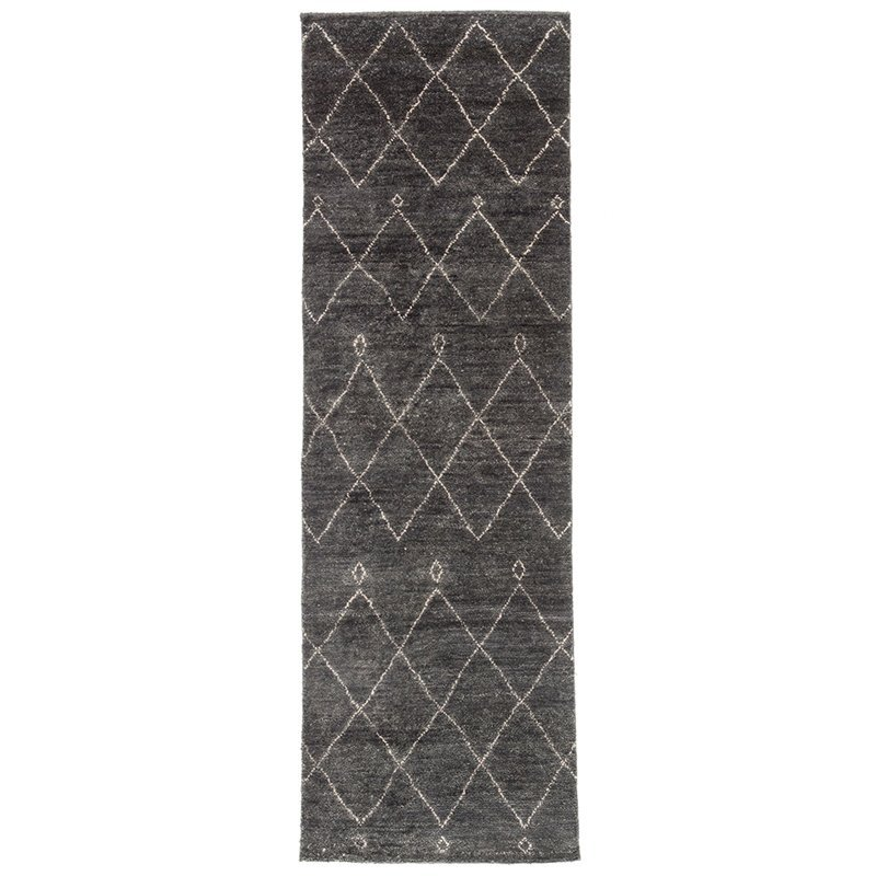 Jaipur Living Nostalgia 2'6 x 8' Wool Runner Rug in Gray and White Product Image