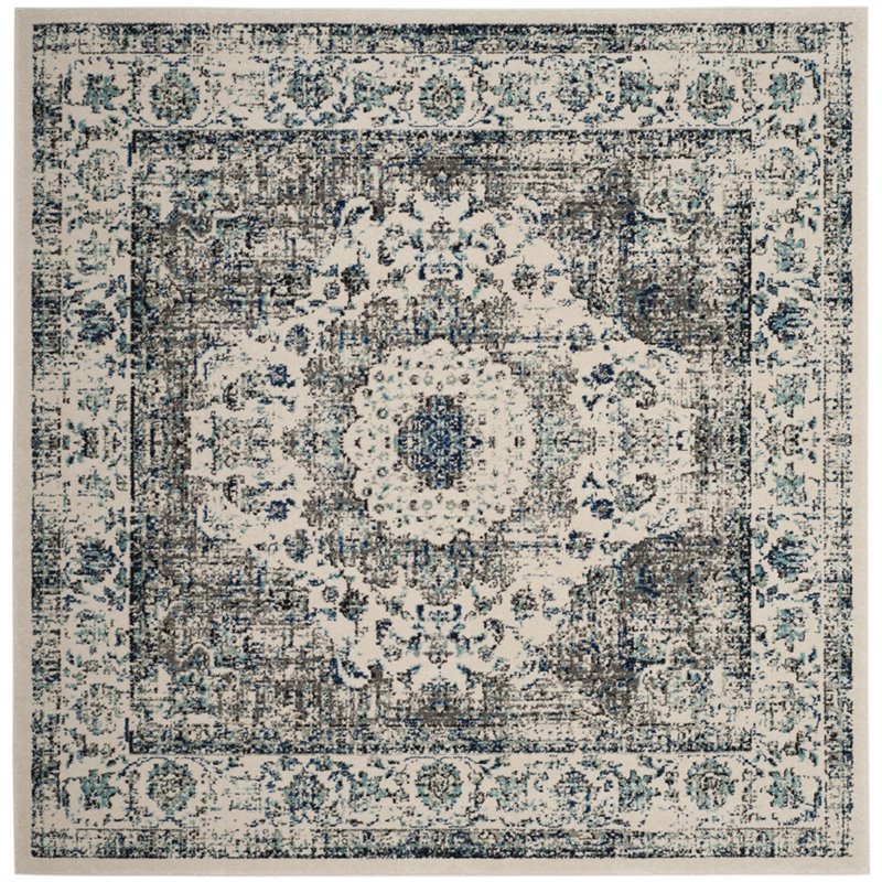Safavieh Evoke 11' Square Rug in Gray and Ivory Product Image