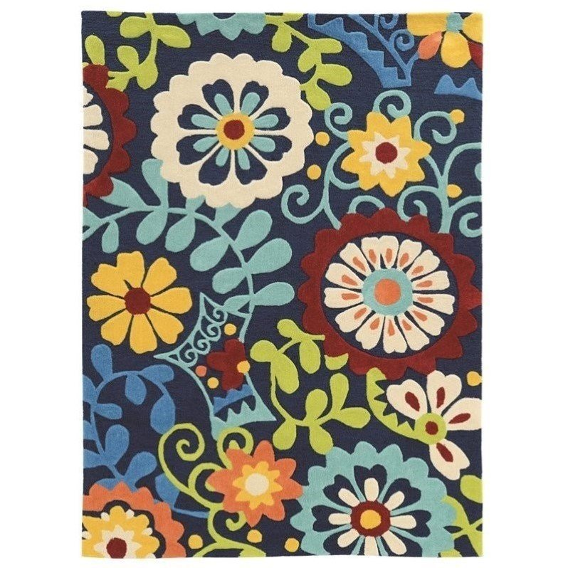 Riverbay Furniture 8' x 10' Hand Tufted Rug in Navy Product Image