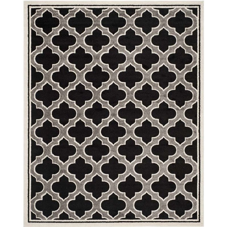 Safavieh Amherst Anthracite Indoor Outdoor Rug - 9' x 12' Product Image