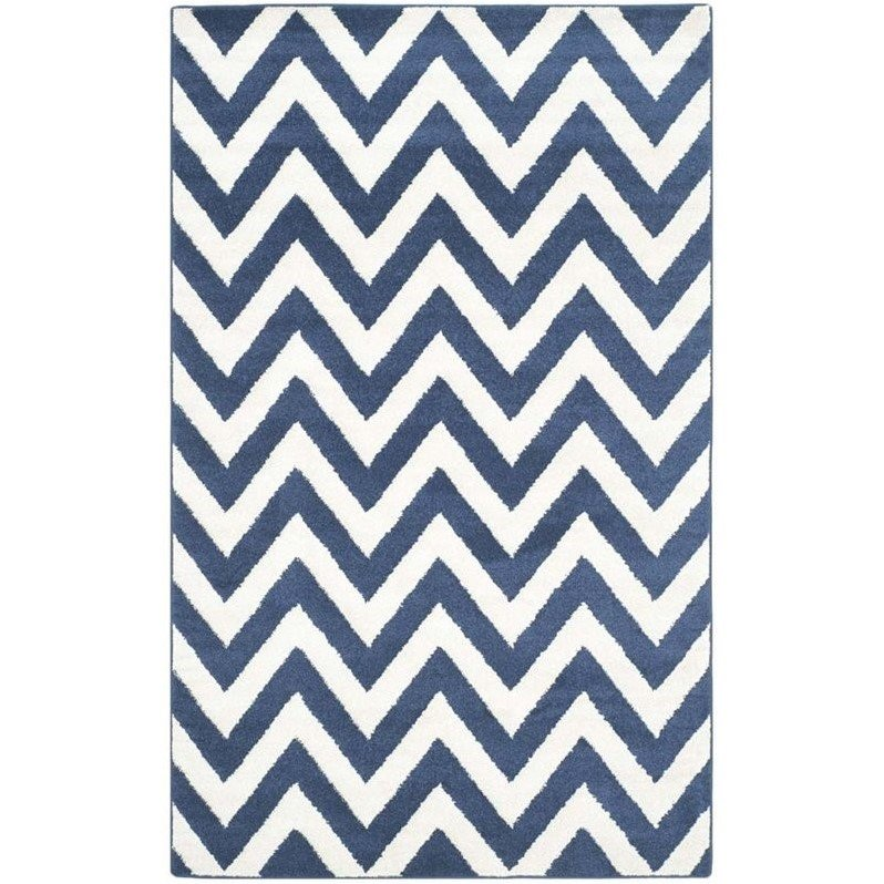 Safavieh Amherst Navy Indoor Outdoor Rug - 9' x 12' Product Image