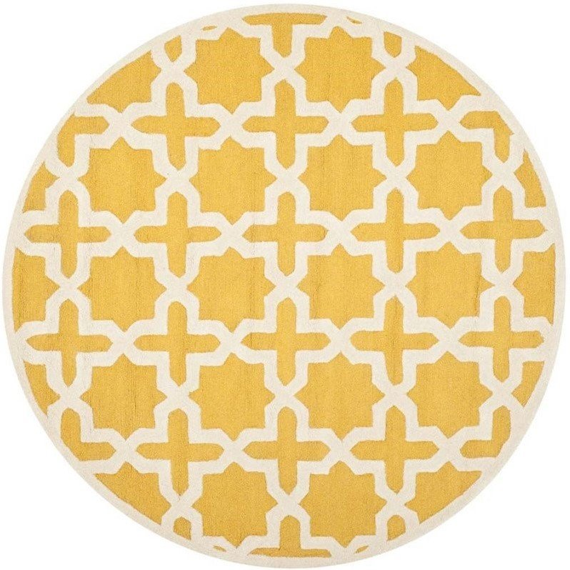 Safavieh Cambridge Gold Transitional Rug - Round 10' Product Image