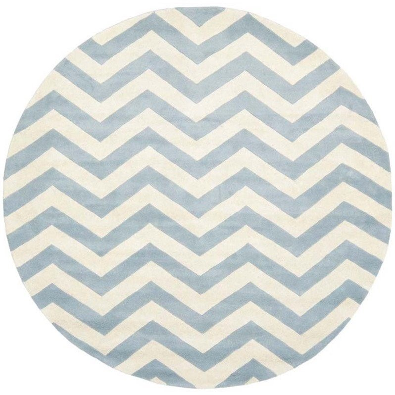 Safavieh Chatham Blue Contemporary Rug - Round 9' Product Image