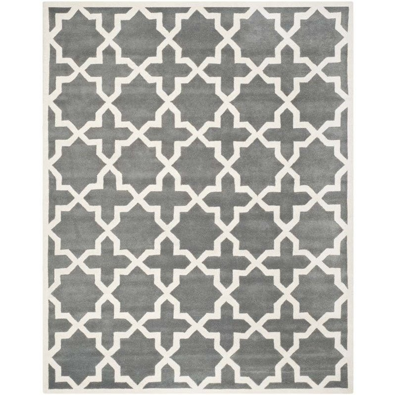 Safavieh Chatham Dark Grey Contemporary Rug - 10' x 14' Product Image