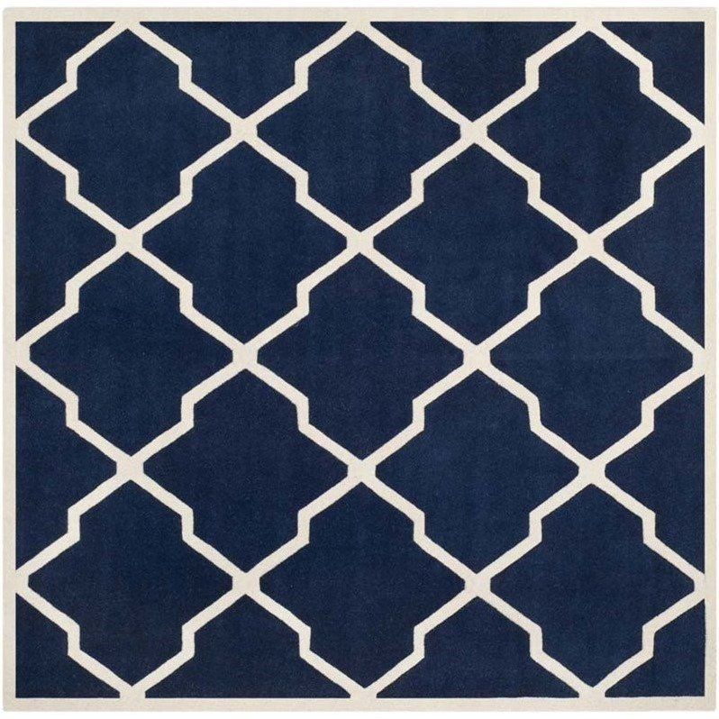 Safavieh Chatham Dark Blue Contemporary Rug - Square 9' Product Image