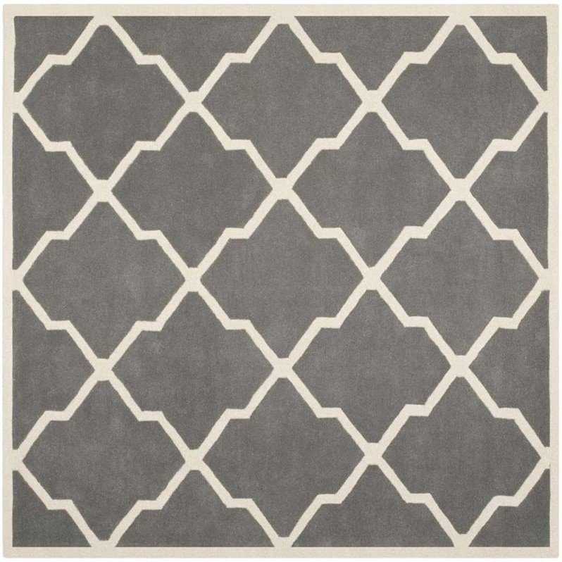 Safavieh Chatham Dark Grey Contemporary Rug - Square 8'9 Product Image