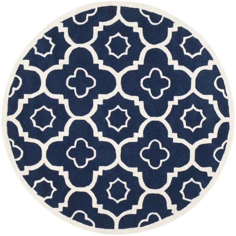 Safavieh Chatham Dark Blue Contemporary Rug - Round 3' Product Image