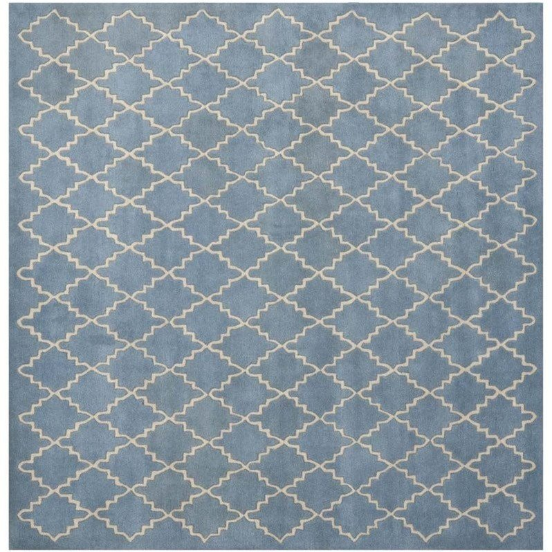 Safavieh Chatham Blue Grey Contemporary Rug - Square 9' Product Image