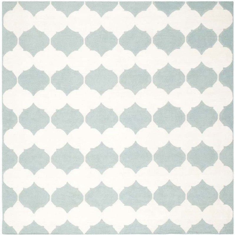 Safavieh Dhurries Blue Contemporary Rug - Square 7' Product Image