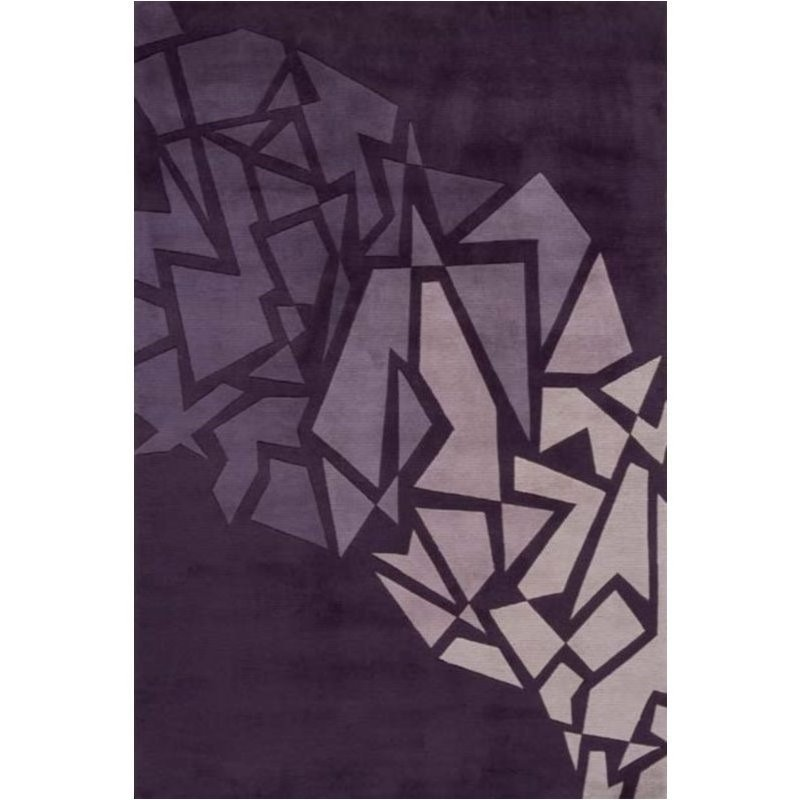 Momeni New Wave 2'6 X 12' Runner Rug in Purple Product Image
