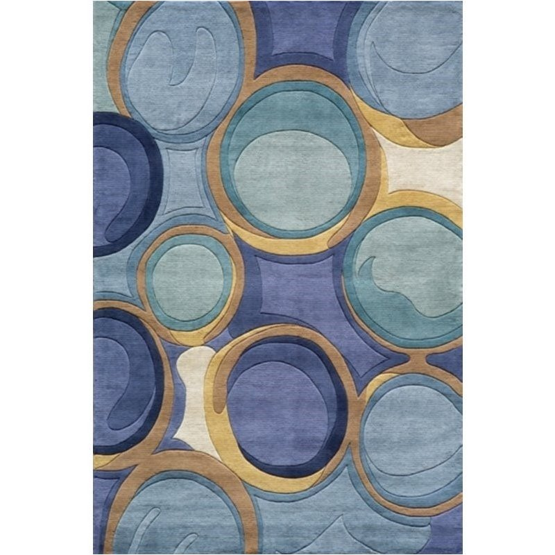 Momeni New Wave 2'6 X 12' Runner Rug in Blue Product Image