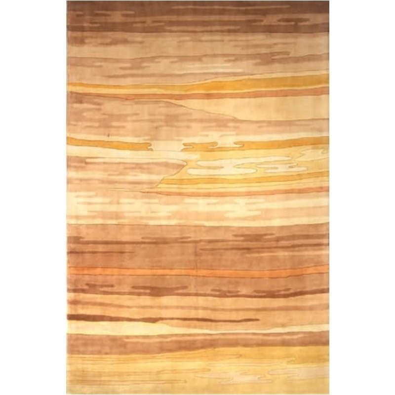 Momeni New Wave 2'6 X 12' Runner Rug in Sand Product Image
