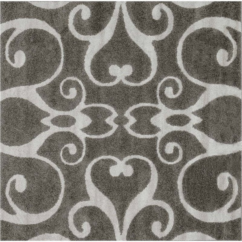 Loloi Enchant 7'7 Square Power Loomed Rug in Smoke Product Image