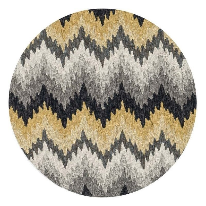 Loloi Francesca 3' Round Hand Hooked Rug in Gray Product Image